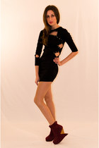 Black-rayon-stretch-iikoy-dress