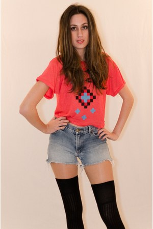 red cotton wildfox couture top
