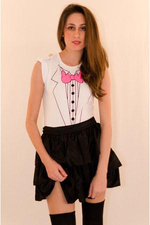 black cotton Minty Meets Munt skirt - cotton wildfox couture bodysuit