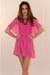 hot pink silk IIKOY dress
