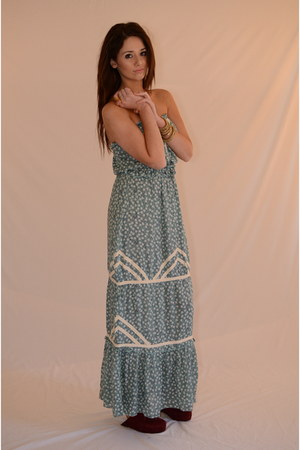 aquamarine maxi lucca couture dress