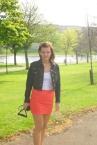 River Island jacket - American Apparel top - Topshop skirt