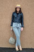 beige Printemps hat - beige H&M bag - heather gray Mango pants