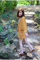 mustard Hipanema vest - white The Kooples top - burnt orange Zara heels