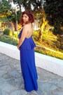 Blue-backless-nb-sport-dress-silver-body-chain-bijou-brigitte-accessories