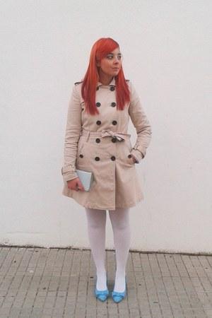 beige trench coat Stradivarius coat