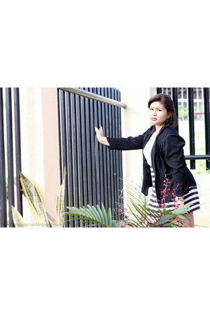 black black and white dress - black black Rosario Boutique blazer