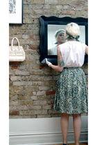 green vintage 1950s skirt