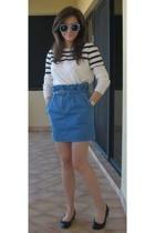 APC sweater - Karen Walker sunglasses - Karen Walker skirt - Repetto shoes