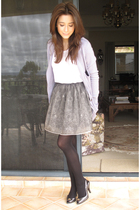 purple sretsis jacket - gray Melissa shoes - black sretsis skirt