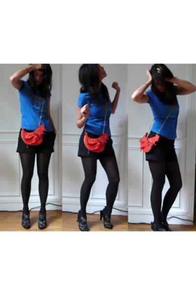 Topshop t-shirt - Zara shorts - seven Bruxelles purse - Zara shoes