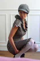 H&M hat - yvan baath dress - dd tights - Zara shoes