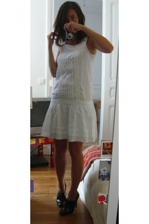 Zara dress - Petit Bateau dress - Zara shoes