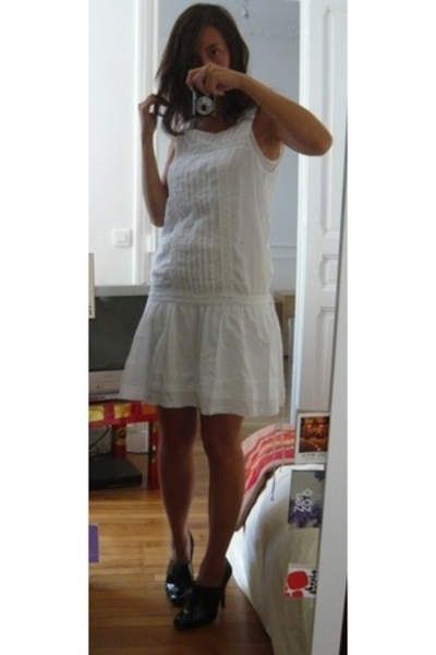 Zara dress - Petit Bateau dress - Zara shoes