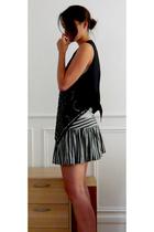 Zara vest - Zara top - Topshop skirt