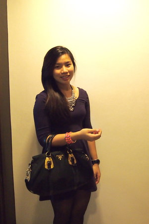 Kenneth Cole watch - Prada bag - Forever 21 bracelet - H&M necklace