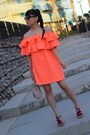 Carrot-orange-aliexpress-dress-black-sammydress-sandals