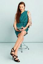 turquoise blue Shoshanna dress