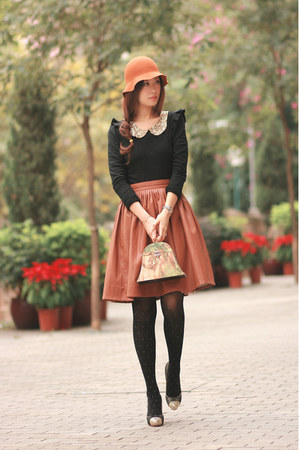 tawny Chicwish skirt - black becky bloomwoods wardrobe sweater