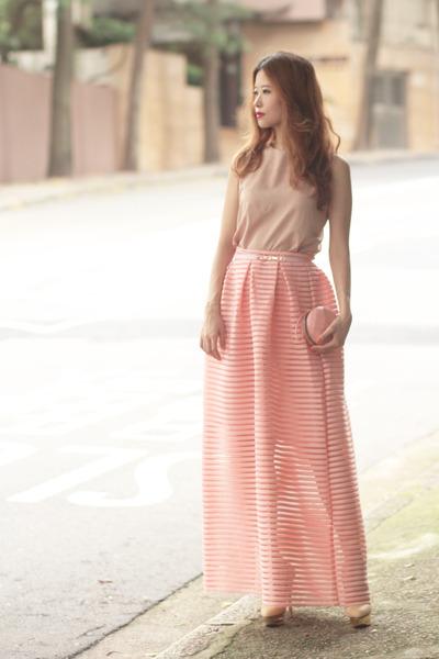 light pink Chicwish skirt
