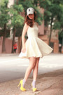 Ivory-ianywear-dress-yellow-sugarfree-heels