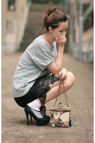 black wwwchicwishcom dress - black viktor & rolf heels