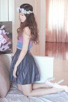 Editors Market top - Chicwish skirt - sleeh heels