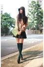 Tan-h-m-blouse-black-zara-skirt-black-viktor-rolf-shoes