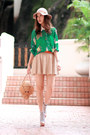 Beige-monki-hat-green-yesstylecom-shirt-bronze-kate-spade-bag-eggshell-zar