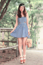 blue Dahlia dress - navy accesoriesmall accessories
