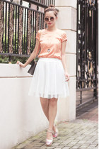 white Front Row Shop skirt - light orange Varrie top