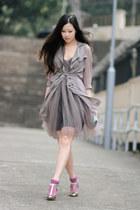silver Sergio Rossi heels - light purple wwwmlhcom dress