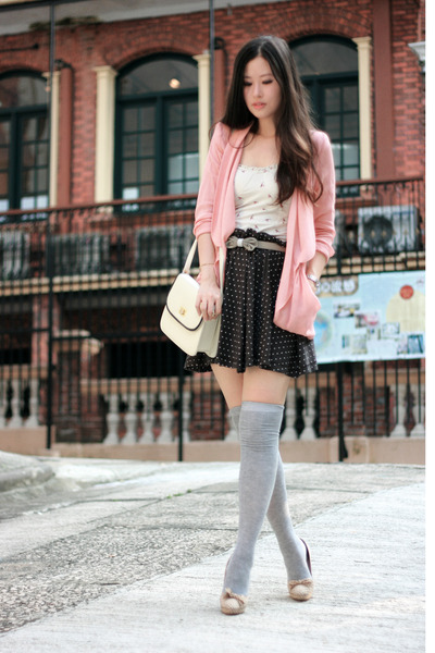 Pink  White Saddle Shoes on Pink  Malin Blazer