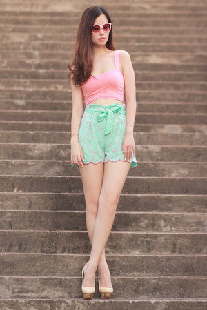 aquamarine virgos lounge shorts - bubble gum mexyshop sunglasses