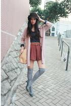 gray rupert sanderson shoes - blue H&M blouse - pink H&M cardigan