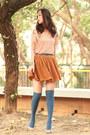 Periwinkle-topsho-socks-mustard-yesstyle-skirt