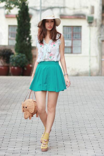 light pink Marni heels - camel kate spade bag - peach Chicwish vest