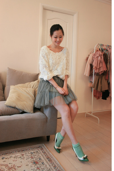 dark khaki yesstylecomhk dress - green MiuMiu heels