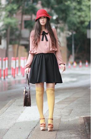 light brown Chloe Sevigny for Opening Ceremony heels - pink wwwyesstylecom dress