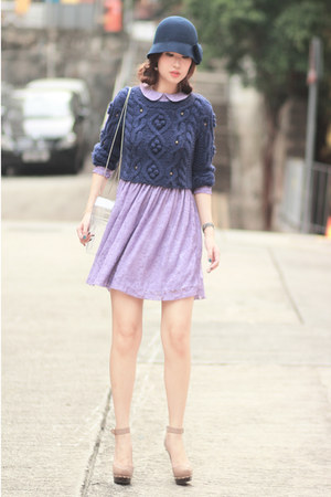 navy Chicwish sweater - light purple romwe dress