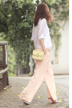 white SirenLondon top - peach Yesstyle pants