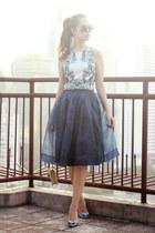 navy Chicwish skirt - violet Klarra top