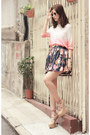 Salmon-romwe-shirt-navy-earl-grey-party-skirt