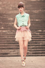Light-blue-romwe-jacket-eggshell-yesstyle-skirt-light-pink-yesstyle-top