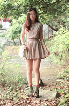 red Drama dress - gold H&M accessories - brown baby & baby shoes