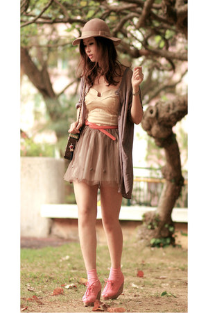 brown H&amp;M shirt - eggshell wwwclubcouturecc dress
