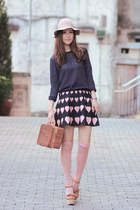 brown Chicwish bag - light pink becky bloomwoods wardrobe skirt