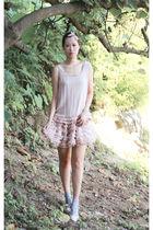 pink Forever 21 vest - pink Topshop skirt - Topshop shoes
