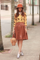 yellow becky bloomwoods wardrobe sweater - beige kate spade bag