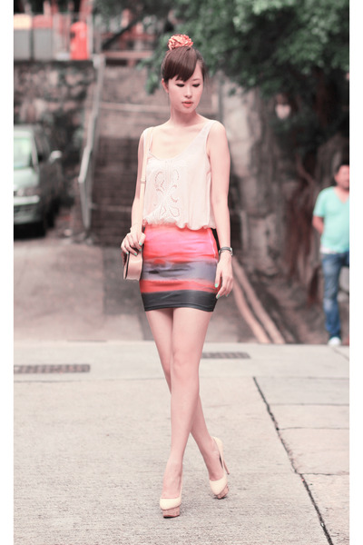 burnt orange beckybwardrobe skirt - eggshell wish top